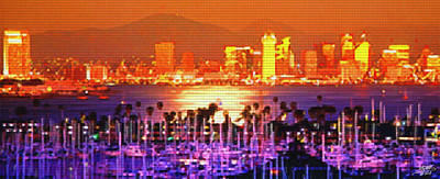 Digital Art - San Diego Sunset by Steve Huang