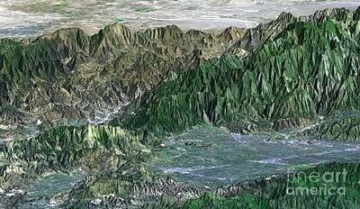 San Fernando Valley Art Print by NASA / Science Source