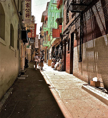 San Fran Chinatown Alley Art Print by Bill Owen
