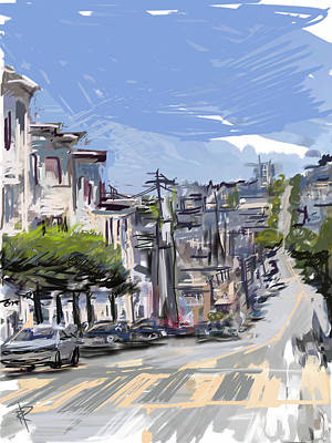 Mixed Media - San Fran Summer Day by Russell Pierce