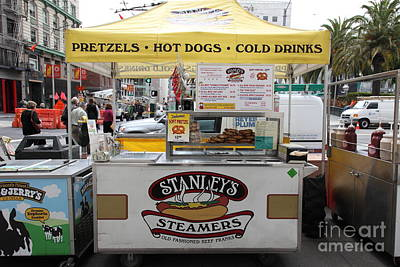 San Francisco - Stanley's Steamers Hot Dog Stand - 5d17929 Art Print by Wingsdomain Art and Photography