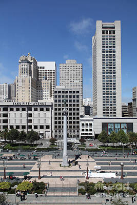 San Francisco - Union Square - 5d17941 Art Print