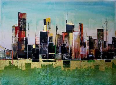Ruins Mixed Media - San Francisco by Asha Menghrajani