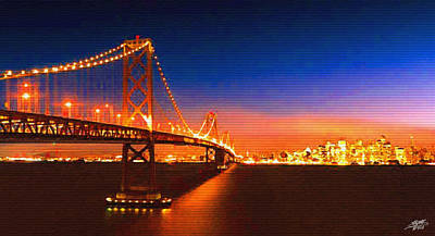 Digital Art - San Francisco At Night by Steve Huang