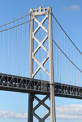 San Francisco Bay Bridge At The Embarcadero . 7d7717 Print by Wingsdomain Art and Photography