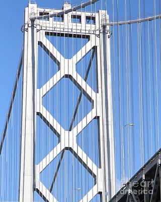 San Francisco Bay Bridge At The Embarcadero . 7d7760 Print by Wingsdomain Art and Photography