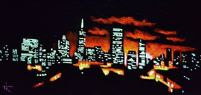 Sunsert Painting - San Francisco Black Light by Thomas Kolendra