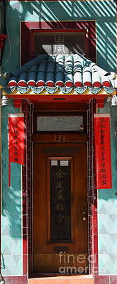 Photograph - San Francisco Chinatown Door by Wingsdomain Art and Photography