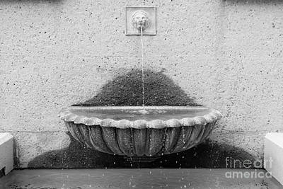 San Francisco Crocker Galleria Roof Garden Fountain - 5d17894 - Black And White Art Print by Wingsdomain Art and Photography