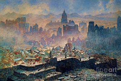 Painting - San Francisco Earthquake by Pg Reproductions