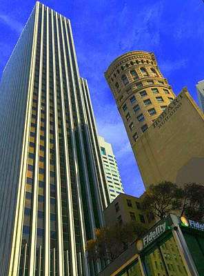 Photograph - San Francisco Financial District by Linda Edgecomb