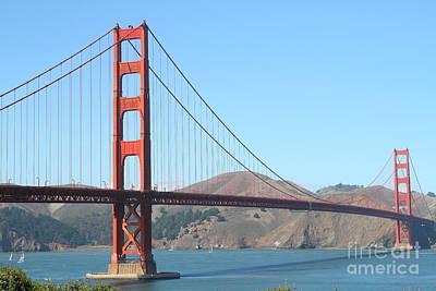 San Francisco Golden Gate Bridge . 7d7802 Art Print by Wingsdomain Art and Photography