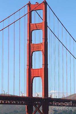 San Francisco Golden Gate Bridge . 7d7804 Art Print by Wingsdomain Art and Photography