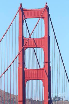 San Francisco Golden Gate Bridge . 7d7809 Art Print by Wingsdomain Art and Photography