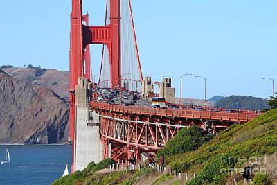 San Francisco Golden Gate Bridge . 7d8151 Art Print by Wingsdomain Art and Photography