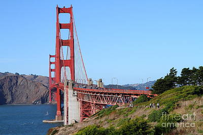 San Francisco Golden Gate Bridge . 7d8158 Art Print by Wingsdomain Art and Photography