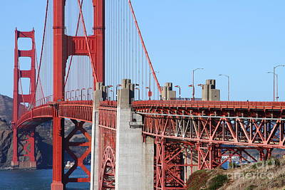 Photograph - San Francisco Golden Gate Bridge . 7d8166 by Wingsdomain Art and Photography