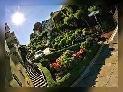 Photograph - San Francisco Lombard Street by Blake Richards