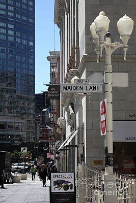 San Francisco Maiden Lane - 5d17096 Art Print by Wingsdomain Art and Photography