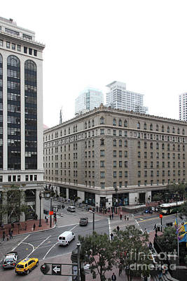 Palace Hotel Photograph - San Francisco Market Street - 5d17886 by Wingsdomain Art and Photography