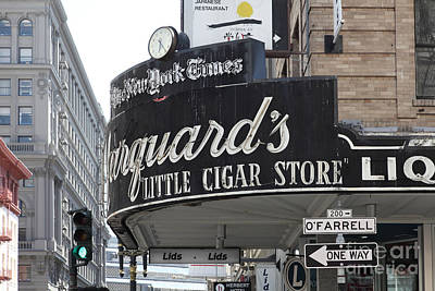 Crosswalk Photograph - San Francisco Marquard's Little Cigar Store Powell And O'farrell Streets - 5d17954 by Wingsdomain Art and Photography