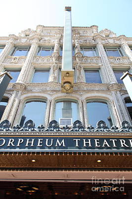 Orpheum Photograph - San Francisco Orpheum Theatre - 5d17987 by Wingsdomain Art and Photography