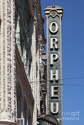 Orpheum Photograph - San Francisco Orpheum Theatre - 5d17996 by Wingsdomain Art and Photography