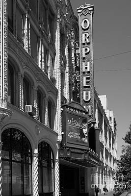 San Francisco Orpheum Theatre - 5d17997 - Black And White Art Print by Wingsdomain Art and Photography