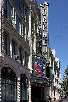 Orpheum Photograph - San Francisco Orpheum Theatre - 5d17997 by Wingsdomain Art and Photography