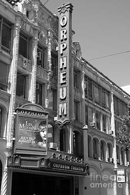 San Francisco Orpheum Theatre - 5d18007 - Black And White Art Print by Wingsdomain Art and Photography
