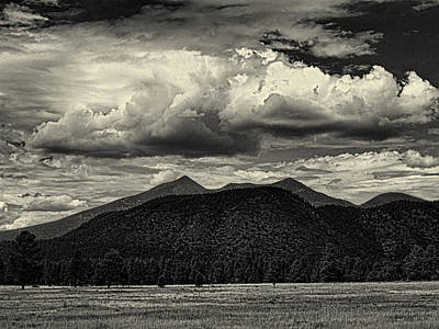 Photograph - San Francisco Peaks In Black And White by Joshua House