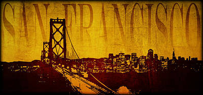 Digital Art - San Francisco by Ricky Barnard