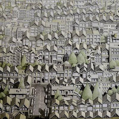 Haight Ashbury Painting - San Francisco Shadows by Andre Salvador