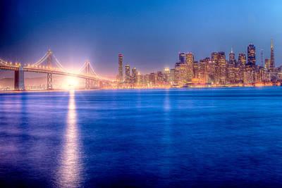 San Francisco Skyline Art Print by Ariane Moshayedi