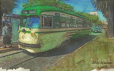 San Francisco Street Car Art Print by Jerry Grissom