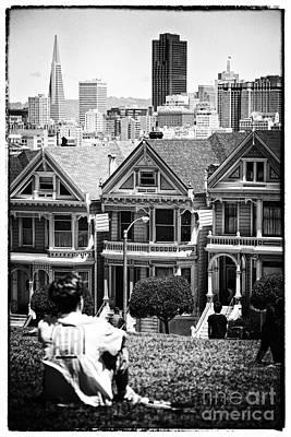 San Francisco View Ll - Black And White Art Print by Hideaki Sakurai