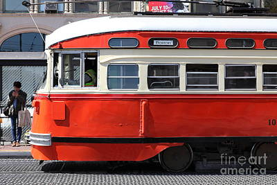 San Francisco Vintage Streetcar On Market Street - 5d18001 Art Print by Wingsdomain Art and Photography