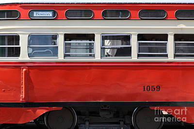 San Francisco Vintage Streetcar On Market Street - 5d18002 Print by Wingsdomain Art and Photography