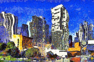 San Francisco Yerba Buena Garden Through The Eyes Of Van Gogh . 7d4262 Art Print by Wingsdomain Art and Photography