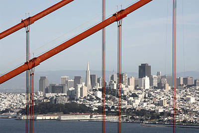 Photograph - San Francisco Through The Cables by Wes and Dotty Weber