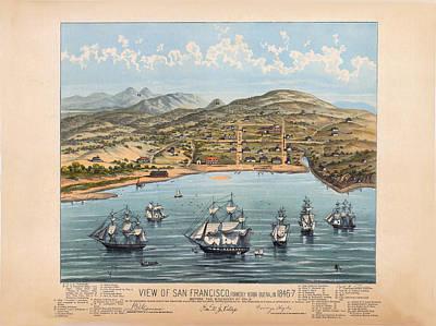 San Fransisco 1846 Art Print by Donna Leach