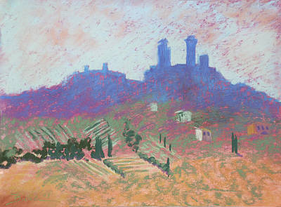 Painting - San Gimignano by Janet Biondi