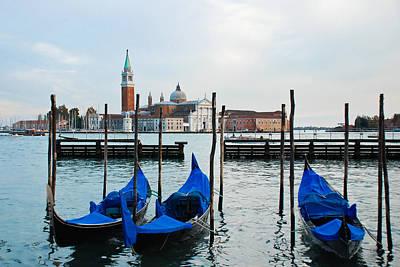 The Main Photograph - San Giorgio Maggiore And Gondolas by David Waldo