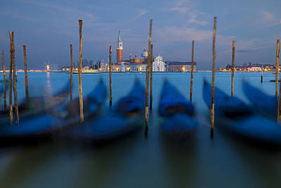 Photograph - San Giorgio Maggiore With Twilight Sky by Michael Yeager