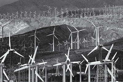 Photograph - San Gorgonio Pass Wind Farm IIi by Clarence Holmes