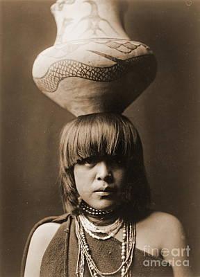 Gir Photograph - San Ildefonso Girl by Padre Art