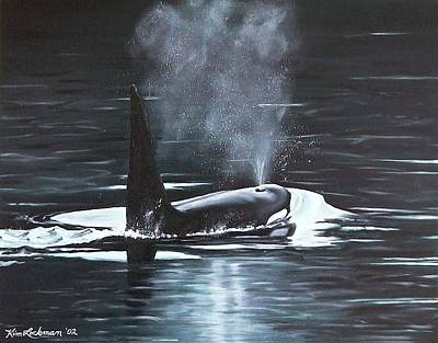 Orca Painting - San Juan Resident by Kim Lockman