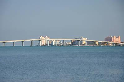 Florida Bridge Digital Art - Sand Key Bridge Clearwater Beach by Bill Cannon