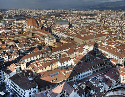 Photograph - San Lorenzo And Duomo Shadow Florence by Gary Eason