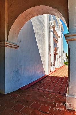 San Luis Rey Photograph - San Luis Rey Courtyard by Sandra Bronstein